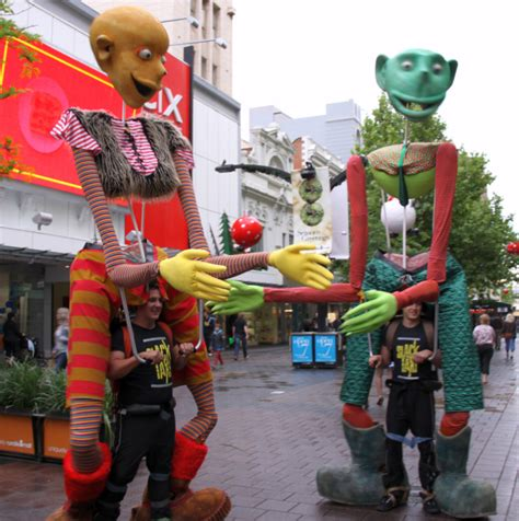 giant puppets spectacular  interactive roving  australia