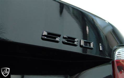 bmw  series gloss black  trunk emblem badge