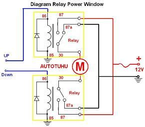 Power Window Wiring Diagram Manual by Wiring Diagram Relay Power Window Rangkaian Relay Power