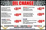 Pictures of Oil Change Prices