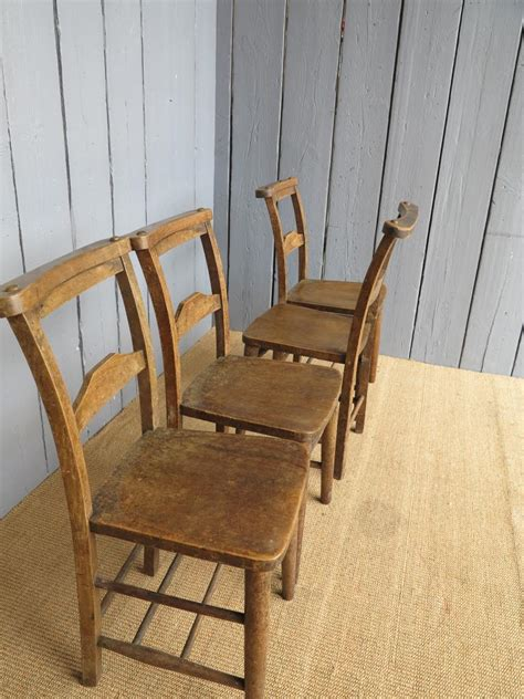 antique solid elm church chairs seats dining chapel