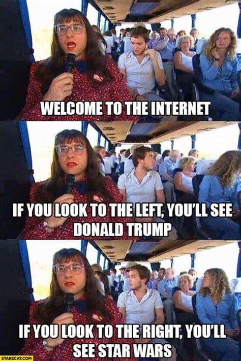 trump wars star left memes welcome internet donald right meme funny britain loopy random definition starecat series jokes