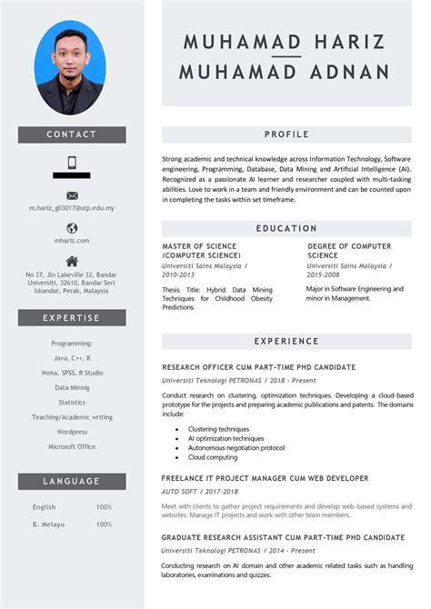 Template Untuk Resume by Contoh Format Resume Terbaik 2019 Resume Terkini Pesta