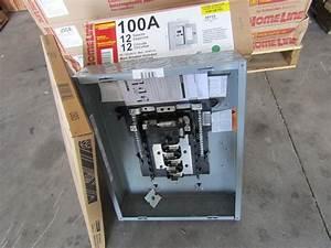 New Square D Hom12m100c 100 Amp 12 Ckt Main Breaker Indoor