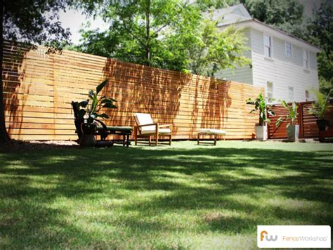 The Skyline™ Horizontal Board Wood Privacy Fence