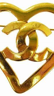 Chanel chanel heart cc logo brooch