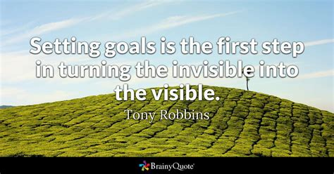 setting goals    step  turning  invisible