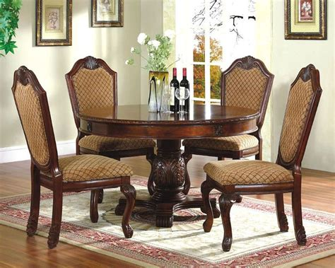 dining room table sets 5pc dining room set with table in cherry