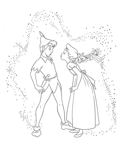 disegni  peter pan da colorare foto  nanopress