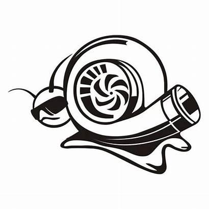 Turbo Cool Jdm Decal Funny Snail Vinyl