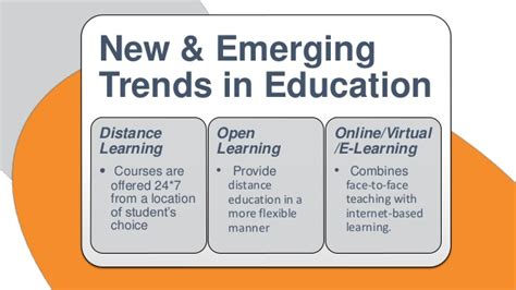 The Paradigm Shift In Learning New And Emerging Trends In