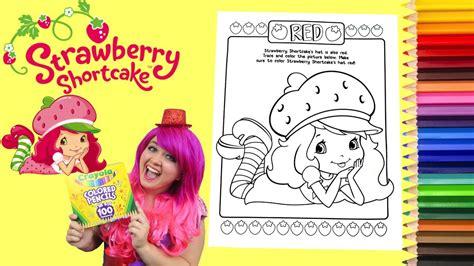 coloring strawberry shortcake coloring book page colored pencil prismacolor kimmi  clown
