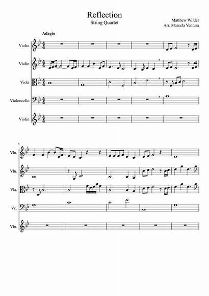 Mulan Reflection Sheet Violin Piano Songs Pretty