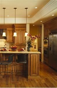 Kitchen lighting makeover recessed in orange