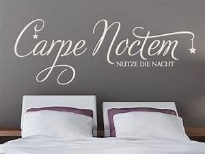 Wandtattoo Carpe Noctem : wandtattoo carpe noctem schlafen begriffe wandtattoo ~ Sanjose-hotels-ca.com Haus und Dekorationen
