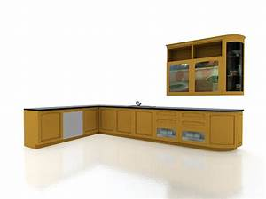 Yellow kitchen cabinets 3d model 3dsmax files free for What kind of paint to use on kitchen cabinets for transparent sticker
