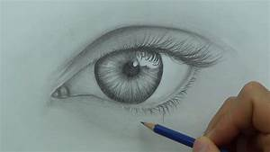 Drawing A Realistic Eye  Time Lapse