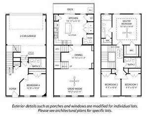 Story Townhouse Plans by 3 Story Townhouse Floor Plans