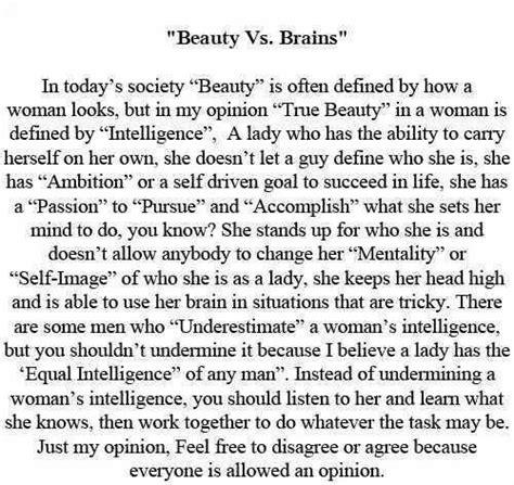 Brains Vs Beauty Quotes