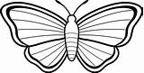 Butterfly Coloring Pages Printable Butterflies Drawings Outline Clip Line Clipart Moth sketch template