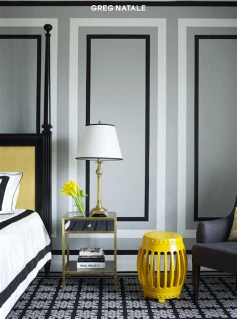 black white  yellow bedroom design ideas