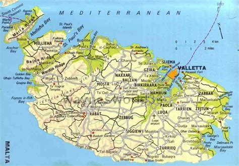 malta map holidaymapqcom