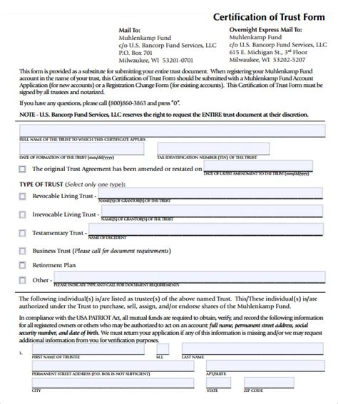 printable living trust forms 11 sle living trust form templates sles exles