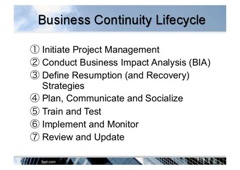 Define Resumption developing and managing business continuity plan bcp