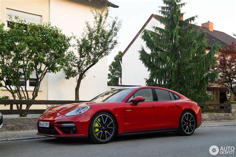 Porsche Panamera Turbo S E Hybrid In Deep Red Looks A