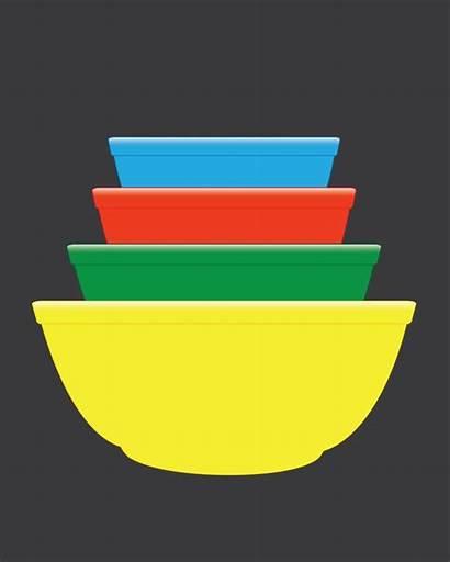 Pyrex Svg Bowl Mixing Bowls Pattern Primary