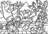 Coloring Safari Pages sketch template