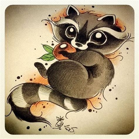 mas de  ideas increibles sobre dibujos de mapaches en