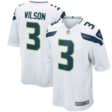 nike russell wilson seattle seahawks youth white game jersey