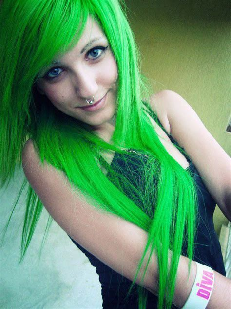 145 Best Images About Crazy Green And Yellow Hair On Pinterest