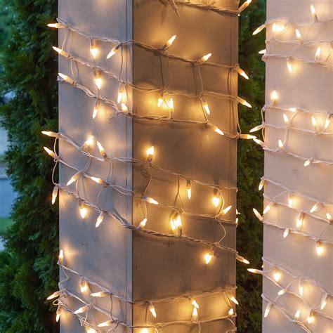 christmas net lights      column wrap
