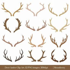 Deer Antler Clip Art DEER ANTLER CLIPART by ...