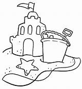 Sand Coloring Castle Beach Pages Shovel Bucket Printable Sandcastle Clipart Sheets Drawing Typical Sketch Clip Colouring Sheet Getcoloringpages Az Sketchite sketch template