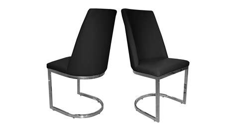 chaise cuir noir chaises mobilier cuir