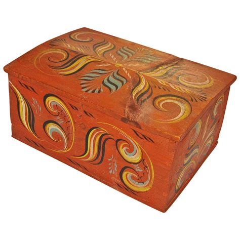 large painted viksdal document box mid 1800 s from sweetpeacottage on ruby