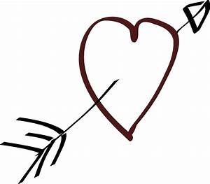 Valentine Heart Arrow clip art Free vector in Open office ...