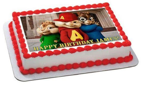 alvin and the chipmunks road chip 1 edible cake topper
