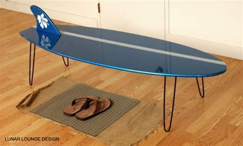 surf board coffee table lunar lounge