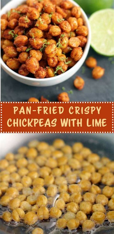Fried dill pickles, fried okra, green tomatoes turn carefully and continue cooking until browned on the other side. Pan-Fried Crispy Chickpeas with Lime | Inquiring Chef ...