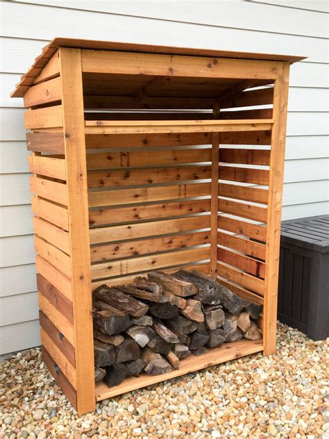 cedar firewood rack storage plans includes  model