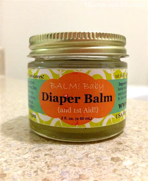Hiccups And Sunshine Balm Baby Diaper Balm And 1st Aid