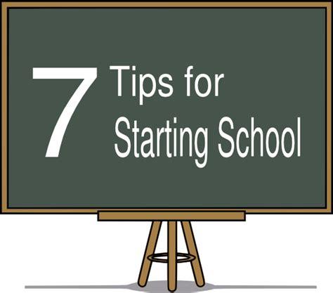 7 Tips For Starting School Clip Art at Clkercom vector