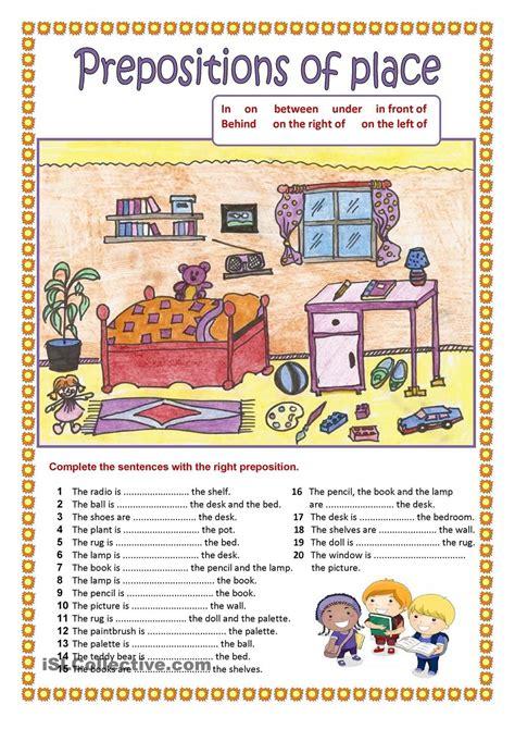 prepositions of place 2 language pinte