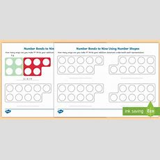 * New * Number Bonds To Nine Using Number Shapes Activity Sheet Numicon