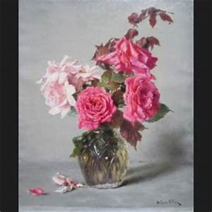 Alexis VOLLON Nature Morte De Roses Tableau Galerie