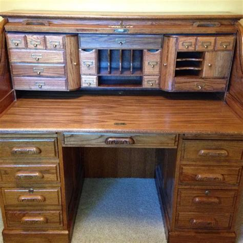desk with lots of storage find more oak roll top desk with key lots of storage